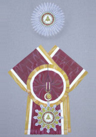 The Royal Order of The Crown of Jaffna, Sash Badge and Breast Star